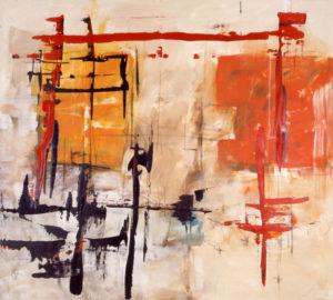 Ohne Titel, 180 x 200 cm, Acryl auf Leinwand