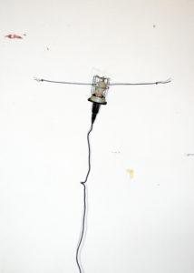 Hängung (Lampe), 70 x 50 cm, Fotocollage