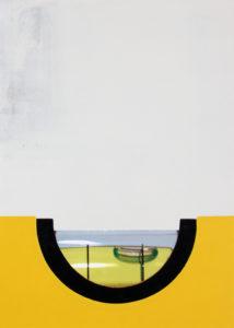 Hängung (Wasserwaage), 70 x 50 cm, Fotocollage