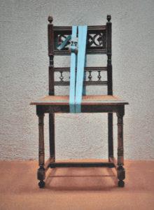 Verspannungen (Stuhl 02), 73 x 53 cm, Acryl auf Papier