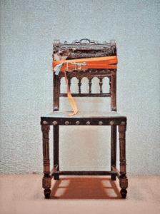 Verspannungen (Stuhl 03), 73 x 53 cm, Acryl auf Papier