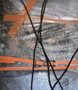 Geschlossene Verspannung, 150 x 130 cm, Acryl auf Leinwand