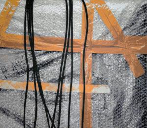 Vertikale Verspannung, 130 x 150 cm, Acryl auf Leinwand