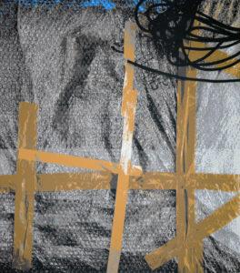 Partielle Verspannung, 150 x 130 cm, Acryl auf Leinwand