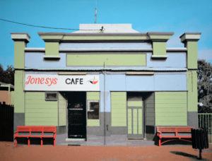 Jonesys Cafe, 120 x 160 cm, Acryl auf Leinwand