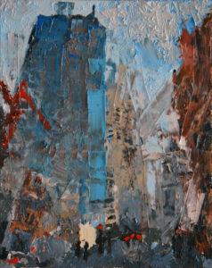Liverpool Street, 60 x 50 cm, Öl auf Leinwand