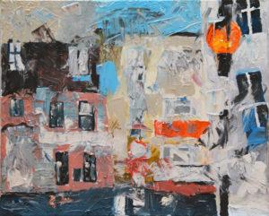 Petticoat Lane, 50 x 60 cm, Öl auf Leinwand