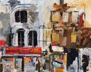 Bethnal Green, 50 x 60 cm, Acryl auf Leinwand