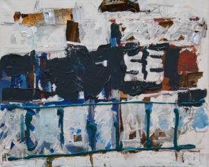 Closed Down Track, 50 x 60 cm, Acryl auf Leinwand