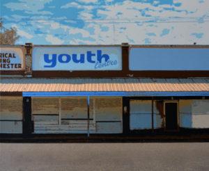Youth Centre, 100 x 120 cm, Acryl auf Leinwand