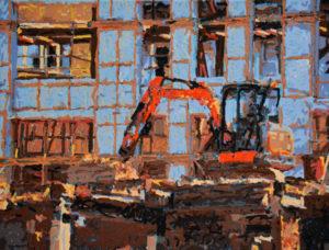 Deadlock, 60 x 80 cm, Öl auf Leinwand