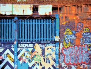 Boxpark, 60 x 80 cm, Öl auf Leinwand