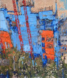 Vertigo 2396, 120 x 100 cm, Acryl auf Leinwand
