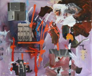 Vertigo 2402, 50 x 60 cm, Acryl auf Leinwand