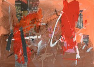 Vertigo 2409, 30 x 40 cm, Acryl auf Leinwand