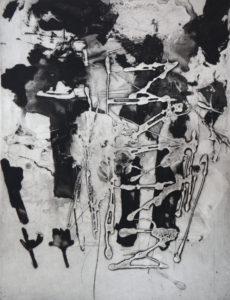 Vertigo 071901, 40 x 30 cm, Carborundum