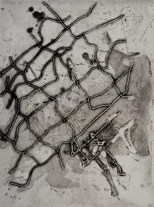 Axion, 40 x 30 cm, Carborundum/Heliogravüre