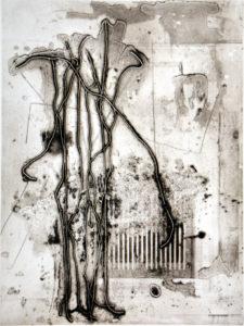 Ganglion, 40 x 30 cm, Carborundum/Heliogravüre
