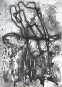 Synapse, 40 x 30 cm, Carborundum/Heliogravüre