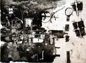 Notting Hill, 30 x 40 cm, Carborundum