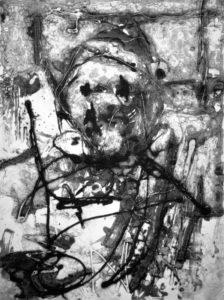 Am Tag, 40 x 29,8 cm, Carborundum