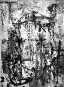 In der Nacht, 40 x 29,8 cm, Carborundum