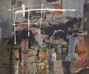 Ohne Titel (#2463), 50 x 60 cm, Collage/Acryl auf Leinwand