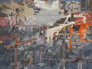 Ohne Titel (#2466), 60 x 80 cm, Collage/Acryl auf Leinwand