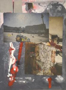 Ohne Titel (#2468), 40 x 30 cm, Collage/Acryl auf Leinwand