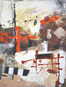 Ohne Titel (#2474), 40 x 30 cm, Collage/Acryl auf Leinwand