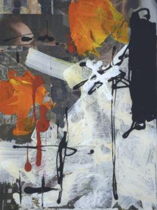Ohne Titel (#2475), 40 x 30 cm, Collage/Acryl auf Leinwand