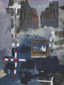 Ohne Titel (#2476), 40 x 30 cm, Collage/Acryl auf Leinwand