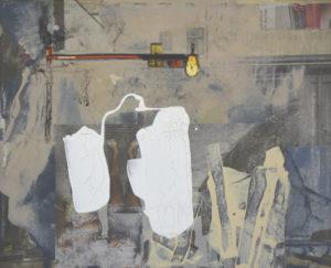 Ohne Titel (#2482), 24 x 30 cm, Collage/Acryl auf Leinwand