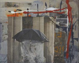 Ohne Titel (#2484), 24 x 30 cm, Collage/Acryl auf Leinwand